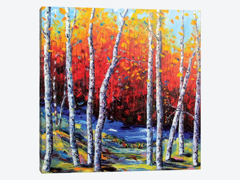 Neverending Birch II by Lisa Elley 1-piece Art Print