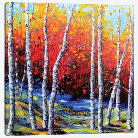 Neverending Birch II Canvas Print #LEL116} by Lisa Elley Art Print