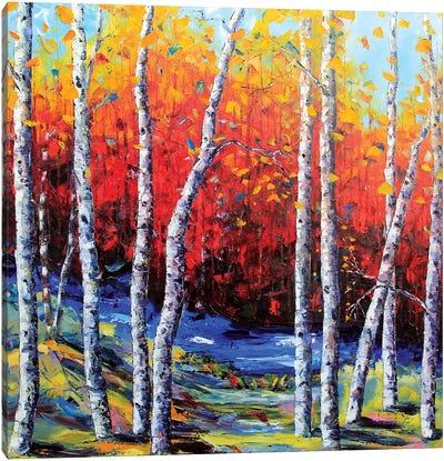 Neverending Birch II Canvas Art Print