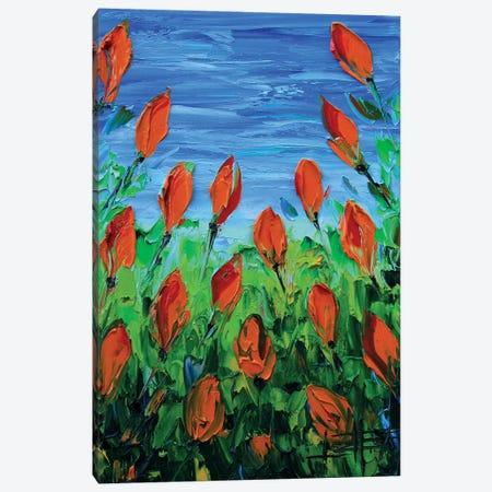 Orange Tulips Canvas Print #LEL120} by Lisa Elley Art Print