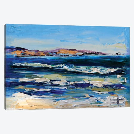 Pleasure Point Canvas Print #LEL128} by Lisa Elley Canvas Print