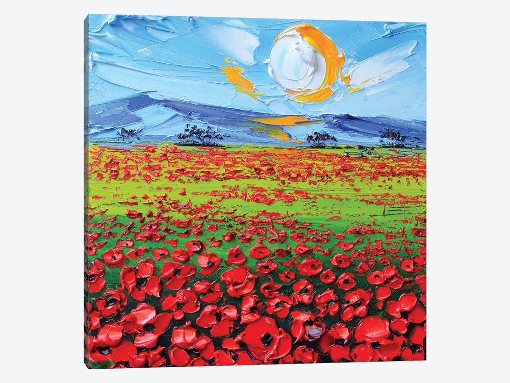 Poppies I by Lisa Elley 1-piece Art Print