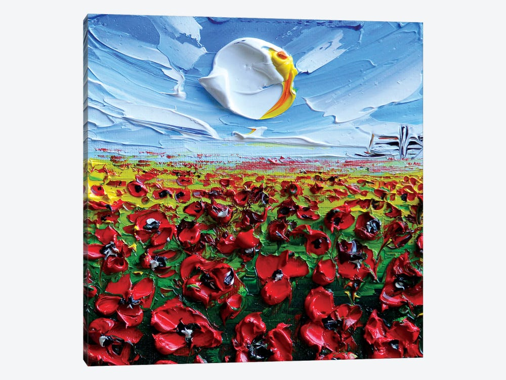 Poppies II by Lisa Elley 1-piece Canvas Artwork