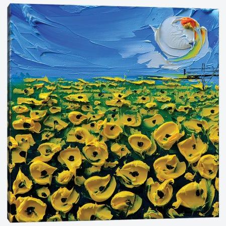 Poppies Yellow Canvas Print #LEL133} by Lisa Elley Canvas Artwork