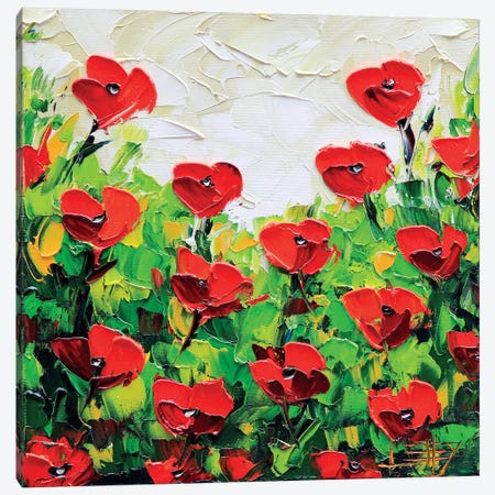 Poppy I Canvas Print #LEL134} by Lisa Elley Canvas Print