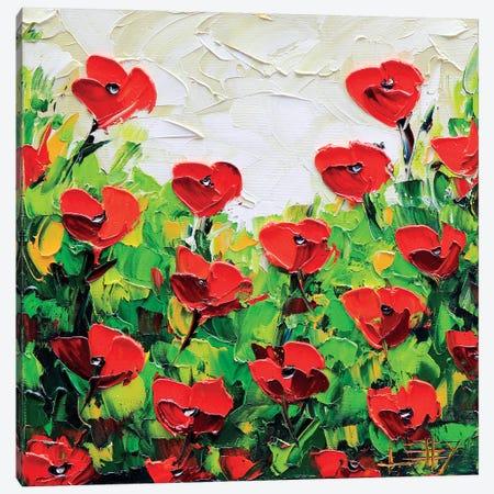 Poppy I Canvas Print #LEL134} by Lisa Elley Canvas Print