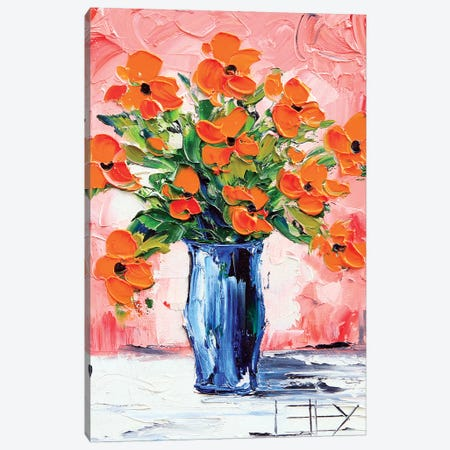 Poppy II Canvas Print #LEL135} by Lisa Elley Art Print