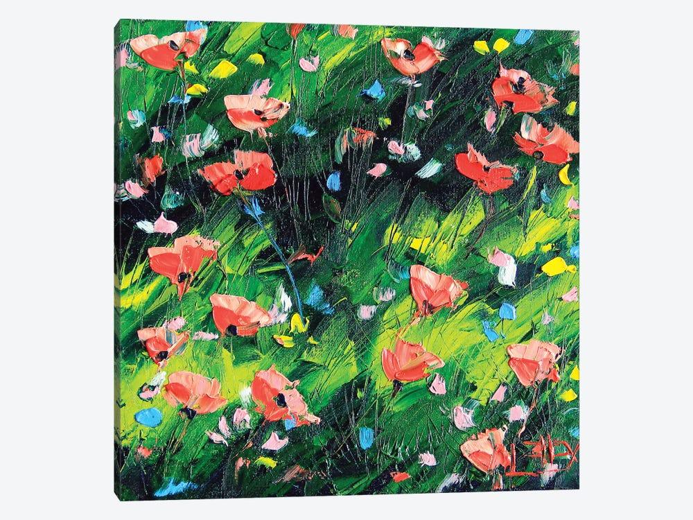 Poppy III by Lisa Elley 1-piece Canvas Art Print