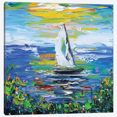 Sailboat I Canvas Print #LEL142} by Lisa Elley Canvas Print