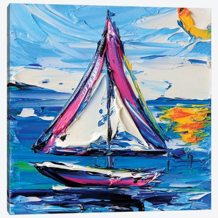 Sailboat II Canvas Print #LEL143} by Lisa Elley Art Print