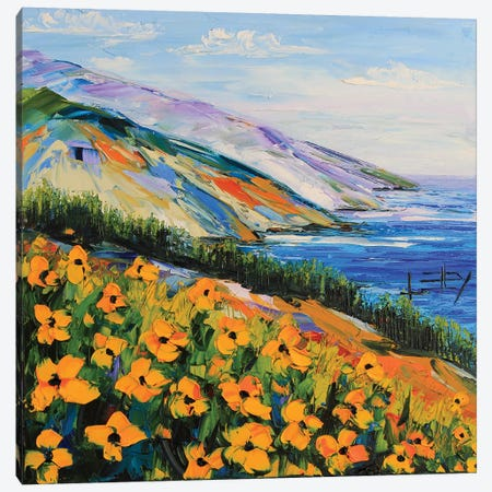 South To Big Sur Canvas Print #LEL149} by Lisa Elley Art Print