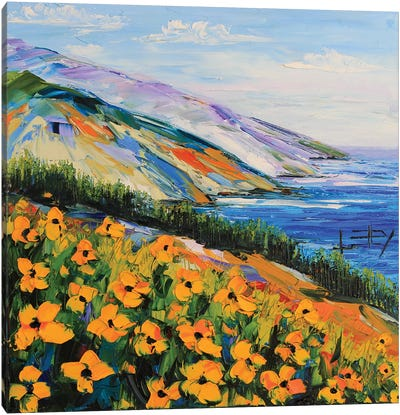 South To Big Sur Canvas Art Print