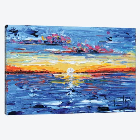 Sunset Canvas Print #LEL153} by Lisa Elley Canvas Art