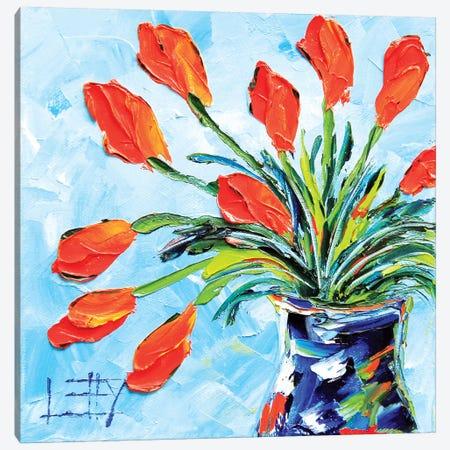 Tulips Canvas Print #LEL160} by Lisa Elley Art Print