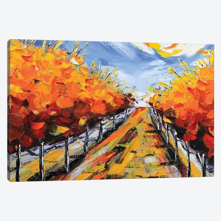 Wine Country Fall Canvas Print #LEL169} by Lisa Elley Art Print