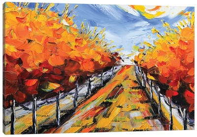 Wine Country Fall Canvas Art Print