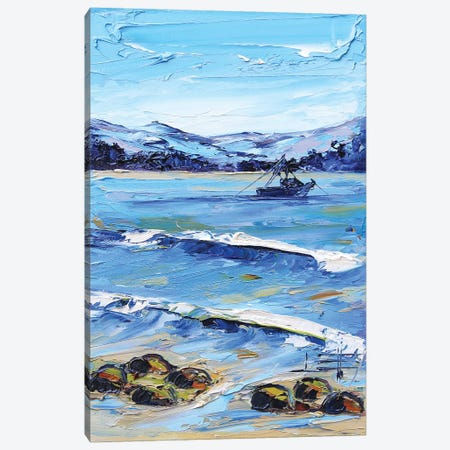 A Day In Monterey Canvas Print #LEL180} by Lisa Elley Canvas Print