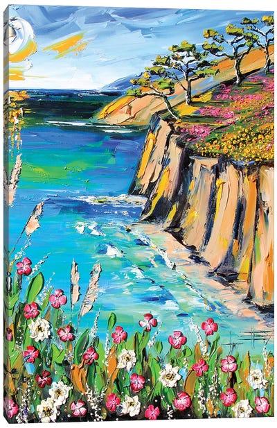 Big Sur Deep Impasto Canvas Art Print