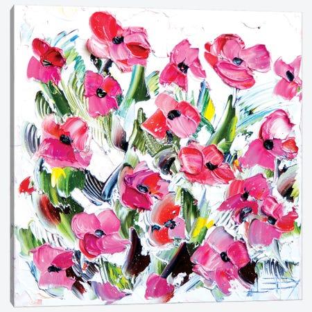 Floral Canvas Print #LEL1} by Lisa Elley Canvas Art