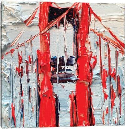 Golden Gate Abstraction Canvas Art Print