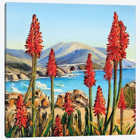Big Sur Lilies i Canvas Print #LEL20} by Lisa Elley Canvas Art