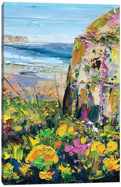 Wildflowers In Half Moon Bay Canvas Art Print