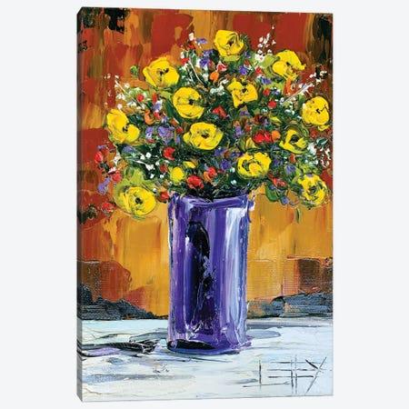 Spring Flowers Canvas Print #LEL215} by Lisa Elley Canvas Wall Art