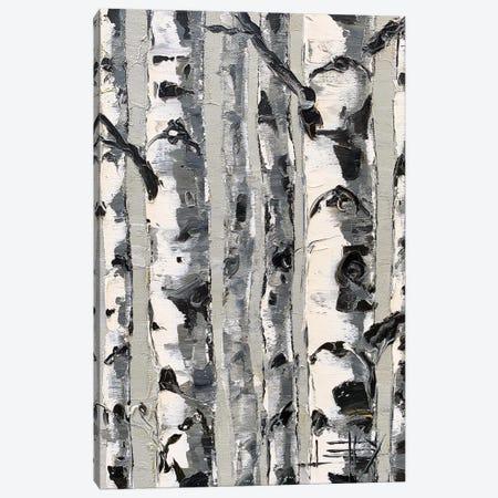 Birch Simplified Canvas Print #LEL216} by Lisa Elley Canvas Art
