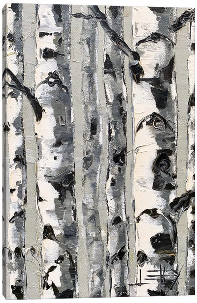 Birch Simplified Canvas Art Print