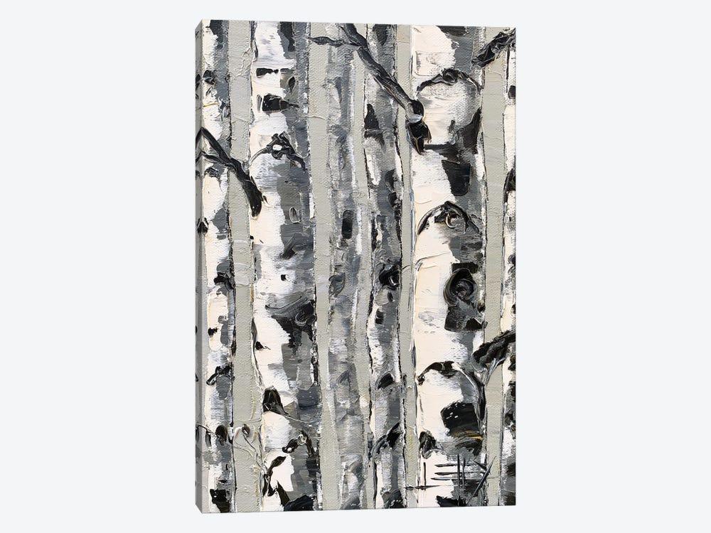 Birch Simplified by Lisa Elley 1-piece Canvas Art Print