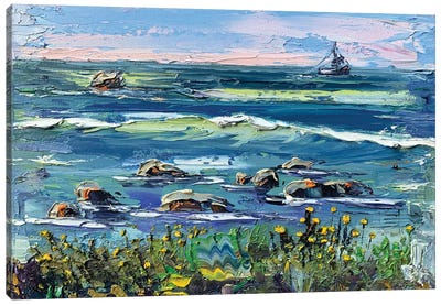 Peace At Pebble Beach Canvas Art Print