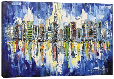 San Francisco Evening Skyline Canvas Art Print