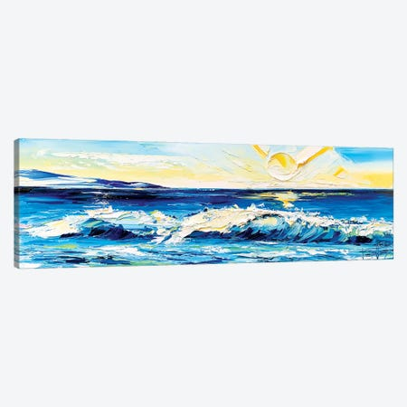 Ocean Caress Canvas Print #LEL227} by Lisa Elley Art Print