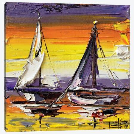 Tangerine Sunset Canvas Print #LEL233} by Lisa Elley Canvas Art Print
