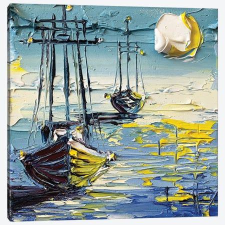 Mysterious Sea Canvas Print #LEL234} by Lisa Elley Canvas Artwork
