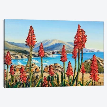 Big Sur Lilies II Canvas Print #LEL238} by Lisa Elley Canvas Art Print
