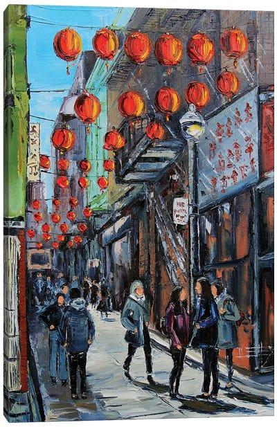 Chinatown At Noon Canvas Art Print