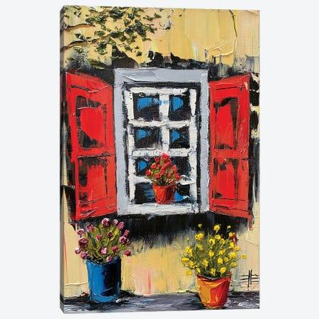Italian Window Canvas Print #LEL252} by Lisa Elley Art Print