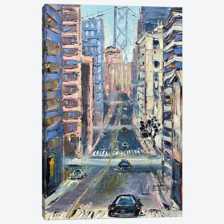 San Francisco And The Bay Bridge Canvas Print #LEL266} by Lisa Elley Canvas Print