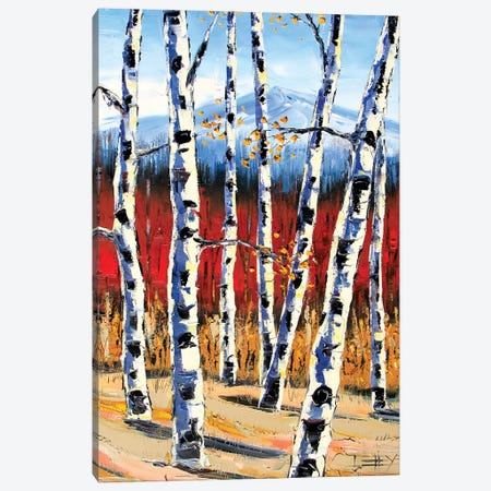 Birch Landscape Canvas Print #LEL26} by Lisa Elley Canvas Print
