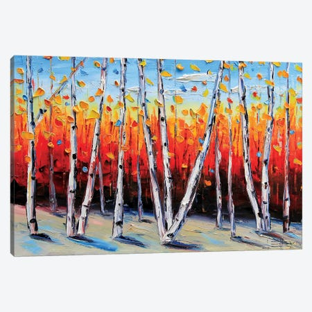 Birch Tree Painting Canvas Print #LEL27} by Lisa Elley Canvas Print