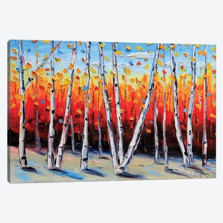 Birch Tree Painting Canvas Print #LEL27} by Lisa Elley Canvas Print