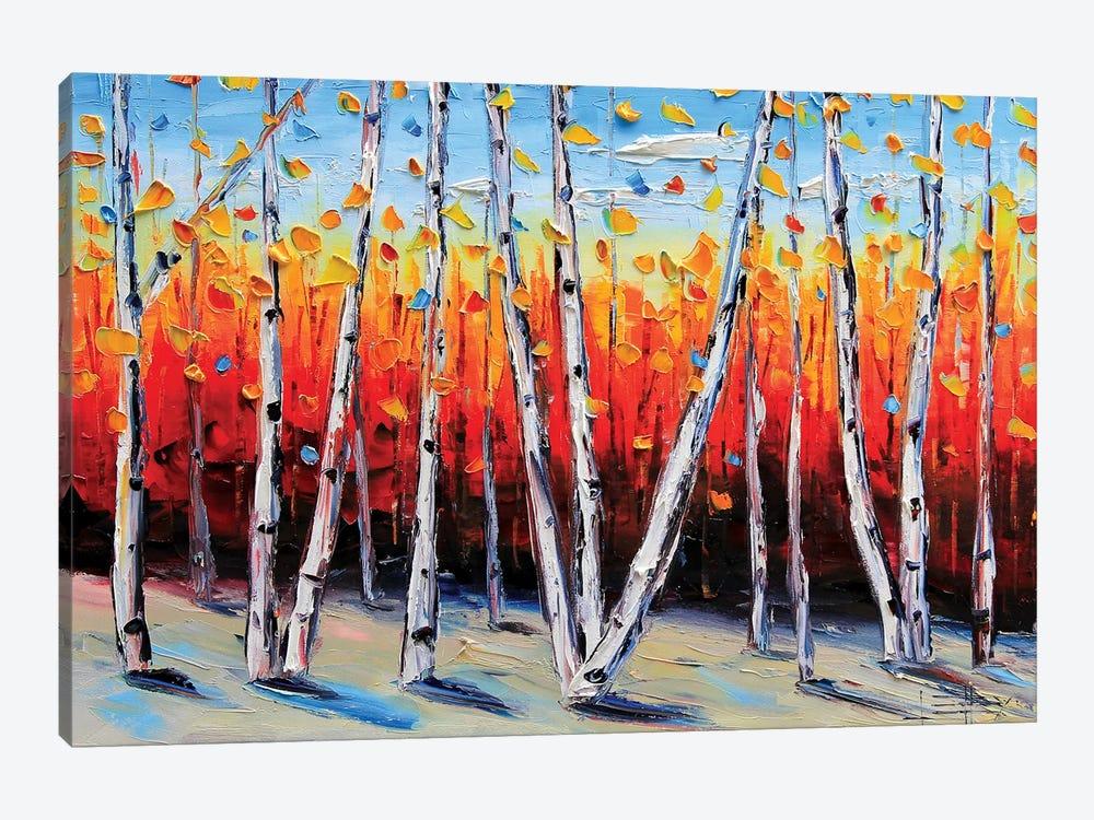 Birch Tree Painting by Lisa Elley 1-piece Art Print