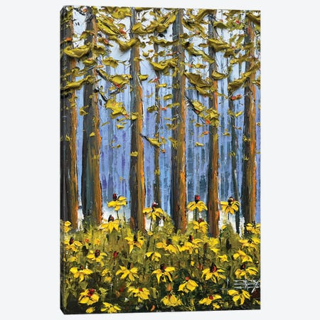 Wildflowers In Yosemite Canvas Print #LEL281} by Lisa Elley Canvas Artwork