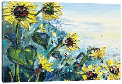 Sunflowers Over The Ocean Canvas Art Print