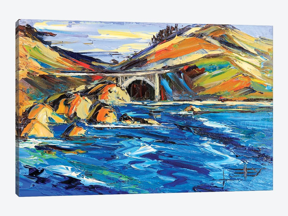 Bixby Bridge by Lisa Elley 1-piece Canvas Artwork