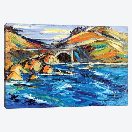 Bixby Bridge Canvas Print #LEL28} by Lisa Elley Canvas Wall Art
