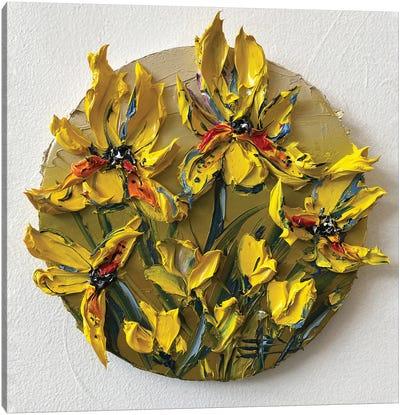 Irises In Yellow Canvas Art Print