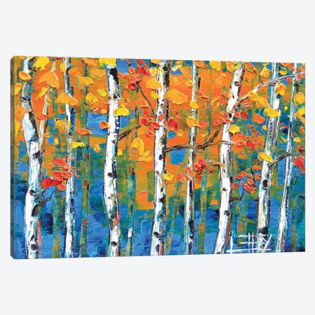 Blue Birch II Canvas Print #LEL29} by Lisa Elley Canvas Wall Art