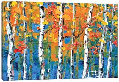 Blue Birch II Canvas Art Print